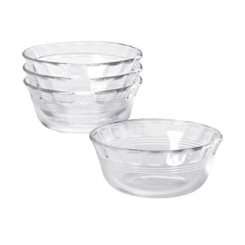 Pyrex, Clear glass Original 0 oz Custard Cup 4 pack, 2.