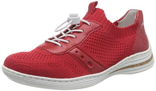 Rieker Damen Frühjahr/Sommer M3575 Sneaker, Rot (Rosso/Rosso 33), 37 EU