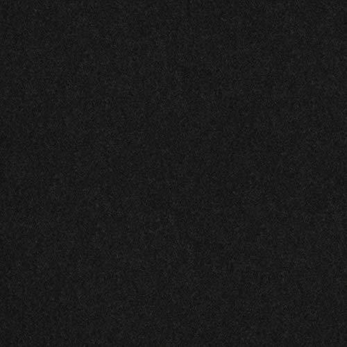 Tela ignífuga para Muebles de diseño inglés Lana Uni, Color Negro, como Tela de tapicería Resistente para Coser y Relax, Lana Virgen, absorción de Ruido.