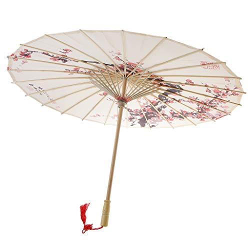 MagiDeal Vintage Regenschirm Sonnenschirm Tanz Schirm Deko Schirm Papierschirm, Chinesischer Stil Muster - 8