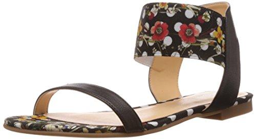 Desigual Shoes Carmen, Sandales Ouvertes à Talon compensé. Femme, Noir 2000, 36 EU