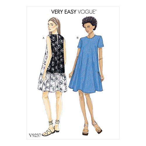 Vogue Mustern Damenkleider, Mehrfarbig, Größen lrg-XXL