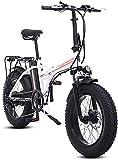 Bicicleta electrica Bicicletas eléctricas rápidas para adultos Bicicleta eléctrica eléctrica de 20 pulgadas Bici 48V500W Bicicleta de montaña Bicicleta plegable eléctrica 4.0 Playa de neumático gordo