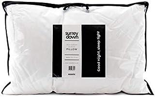 The Surrey Down Co. - Lot de 4 oreillers en plumes et duvet de canard blanc