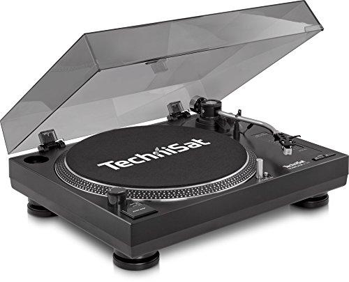 TechniSat TECHNIPLAYER LP 300 - Profi-USB-DJ-Plattenspieler (mit Scratch-Funktion und Digitalisierungsfunktion, Drehzahl: 33/45 U/min, Quarzgesteuerter Direktantrieb) schwarz