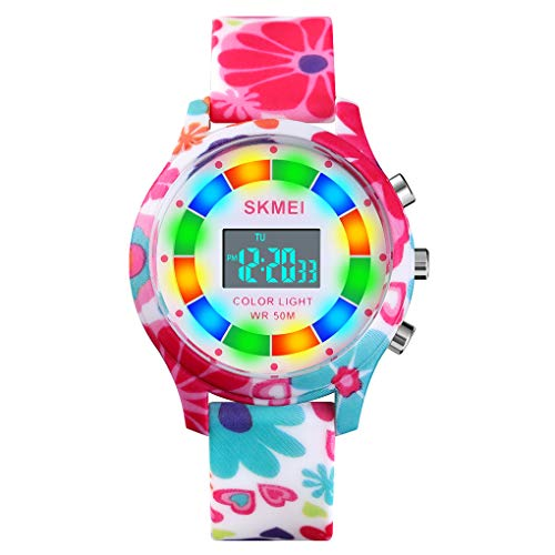CakCity Kids Digital Sport Watch for Boys Girls Kid Waterproof Electronic Multi Function Cute Outdoor Watches with LED Luminous Alarm Stopwatch Child Wristwatch Ages 5-15