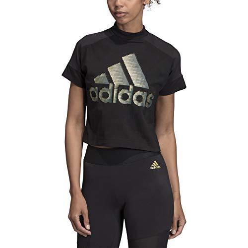 adidas Basic Badge of Sport Tee (Core Black/Black, Small)