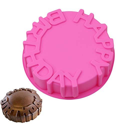 JUNGEN Moule en silicone 3D Alphabet Fondant Chocolat Savon Moule Pour Gâteau Et Muffins Bac À Glaçons 1pcs (Couleur aléatoire)