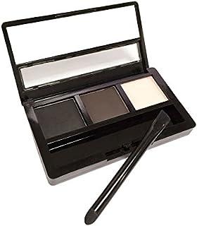 پودر سایه چشم و پودر چشم ابرو سه بعدی و رنگی AMarkUp با مجموعه آینه های برس دو طرفه (# 02 سیاه)