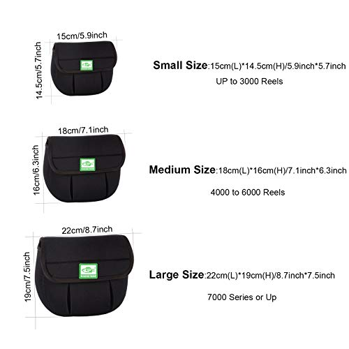 SF Spinning Reel Cover Case Bag Pouch Glove Fits 1000 2000 3000 4000 5000 6000 7000 Series up Spinning Reels