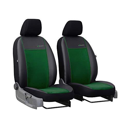 Universele stoelhoezen Bus 1 + 1 stoelbekleding voorstoelen autostoel bekleding groen