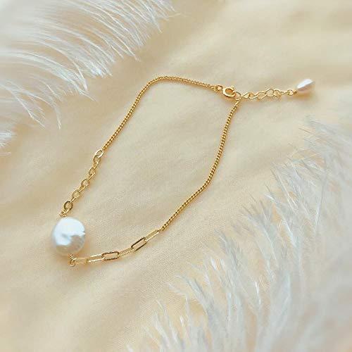 WQZYY&ASDCD Pulseras Brazalete Pulsera De Cristal De Perlas De Moda Simple Regalo De Temperamento Clásico De Moda Joyería De Mujer-Pearl_20Cm