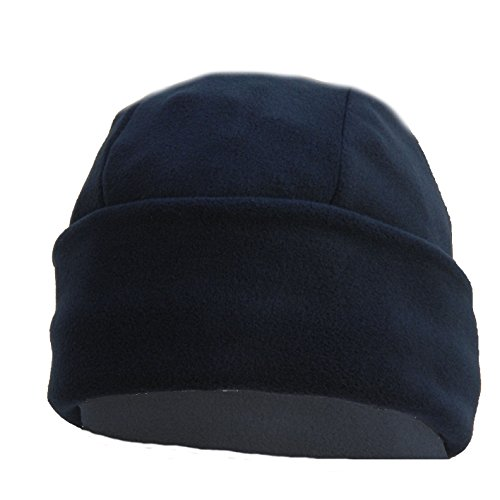 OUTLET MILITARY Cappello Tondo in Pile Antipilling Blu Navy