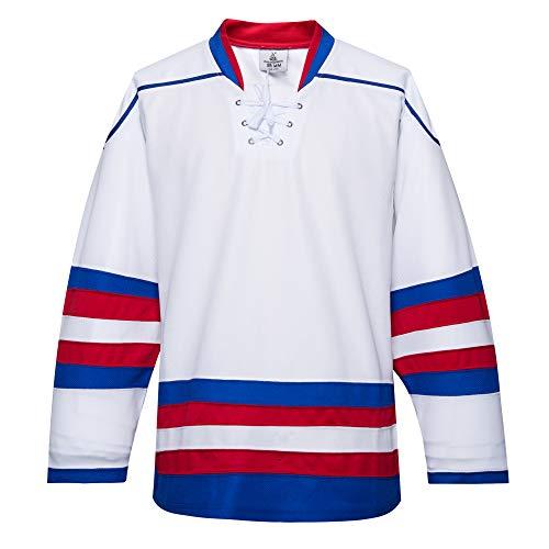EALER H900 Series - Camiseta de práctica deportiva de hockey sobre hielo para hombres y niños, adultos y jóvenes, E035white, Goalie