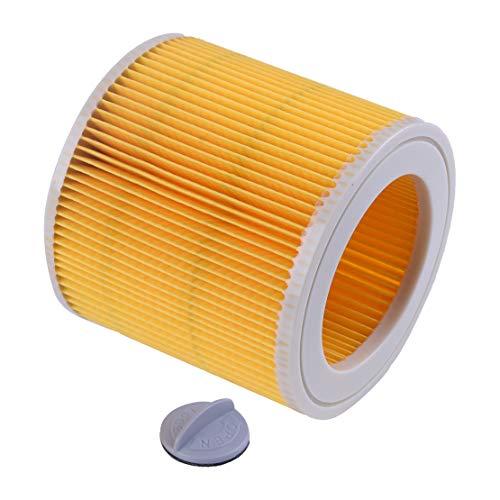 Filtro de cartucho para aspiradora seco húmedo adaptado para Karcher A2004A2054wd2.250papel plástico 12.2x 11.5cm