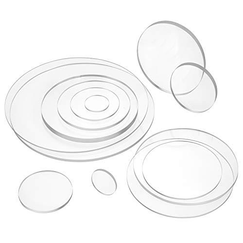 Acrylglasscheibe rund, Ø 200mm, 10mm Dick, transparent - Zeigis® / Ronde/Platte/Kunststoff/durchsichtig