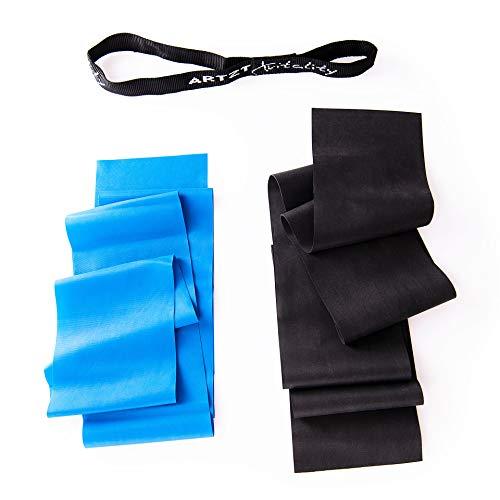 Artzt Vitality Fitnessbänder für Home Training, Kraft, Therapie | latexfrei | 2,50 m | 2 Stärken Mehrfarbig, 2,50 m
