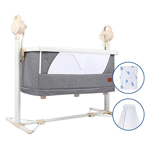 Best Price Balance Bouncer Cradle Infant-to-Toddler Rocker Cradle Bed New-Born Baby Swing Chair and Bouncer Suitable for New-Born to Toddler Multifunction Bedside Bed (Color : White)