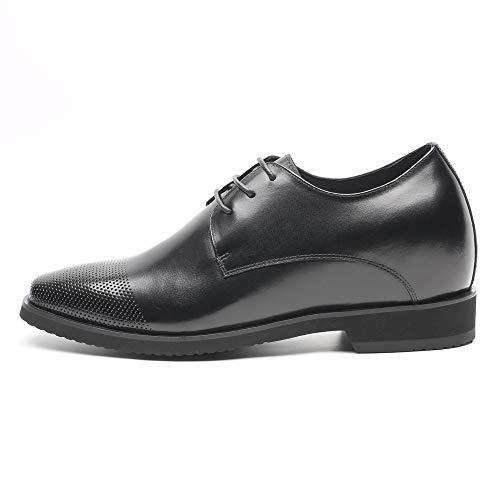 Faretti Elevator Shoes +9 cm Aufzug Anzug Lederschuhe Anzugschuhe Herren Business Leder Schuhe Größer Machen mit Versteckte Absatz Schuheinlagen Schuh Erhöhung Lift Schuhe Apollo I 41