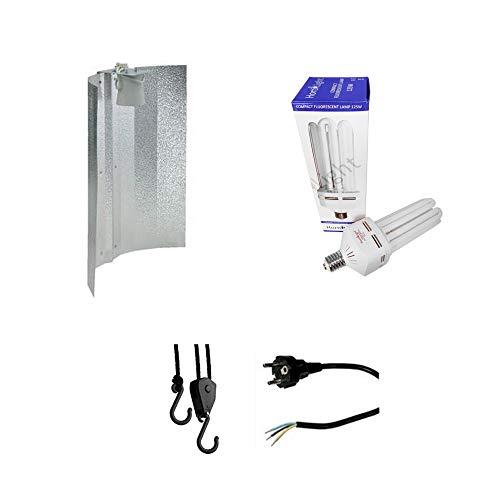 Beleuchtungs-Set Light Set ESL Energiesparlampe 125W Wuchs mit Reflektor Grow