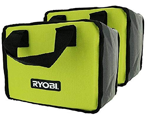 (2) Ryobi Tool Bags (10x8x6) Cases For Drill Or Impact + Battery & Charger (Bulk Packaged)