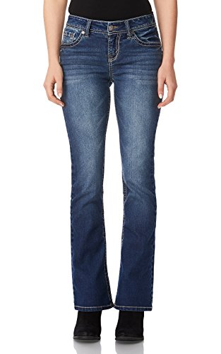 WallFlower Women's Juniors Basic Legendary Bootcut Jeans in Katy Size:9 Short