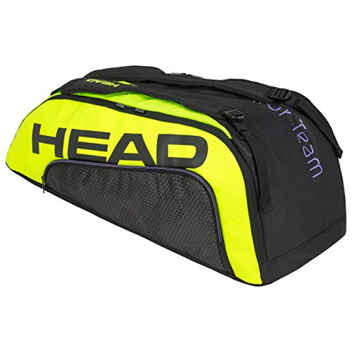 Head Tour Team Extreme 9R Supercombi Bolsa de Tenis, Adultos Unisex, Negro/Neon Amarillo