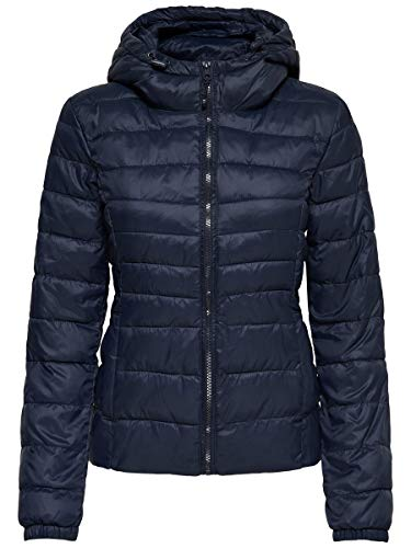 ONLY Damen Onltahoe Hood Jacket Otw Noos Jacke, Blau (Night Sky Night Sky), S EU