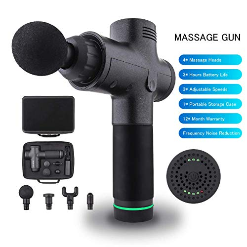 Noiseless massager 24V body relax muscle massager Handheld Tissue Massager Gun, Cordless Muscle Stimulation Vibration Device, Pain Relief Percussive Therapy NOT theragun/Hyperice Hypervolt