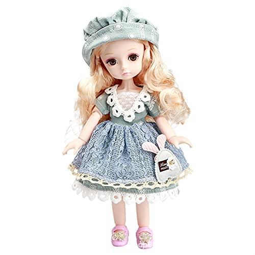 Breakthecocoon 26 cm 1/6 BJD niña, juego de vestir, vestido con ropa (color: verde militar, tamaño: 26 cm)