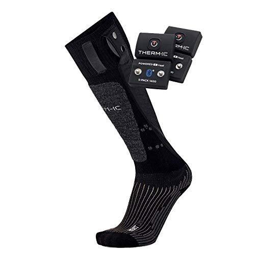 Thermic PowerSocks Set Heat Uni 1400B Pack Chaussettes chauffantes + Batteries Bluetooth Mixte Adulte, Noir, FR : S (Taille Fabricant : 35-38)