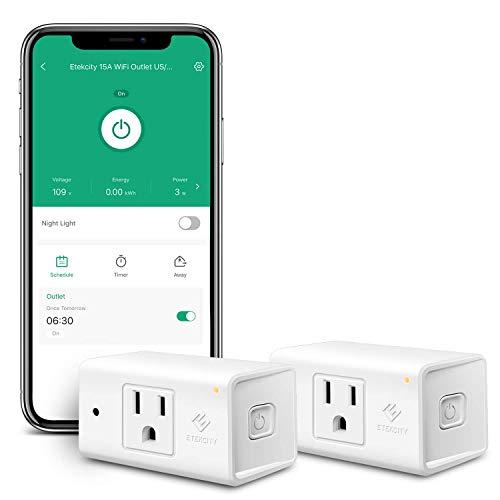 Etekcity Smart Plug Works with Alexa and Google Home, WiFi Energy...