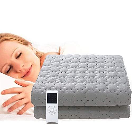 LLGHT Heizdecken Elektrische fürs Bett mit Abschaltautomatik Überhitzungsschutz, 150×80cm Flanell Wärmeunterbett mit 10 Temperaturstufe Elektrische Size : 150×180cm(59×71inch)