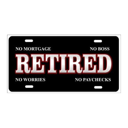 He Legend Has Retired License Plate Decorative License Plate Tag Car Tag