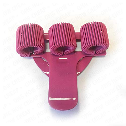 OMG - Portapenne triplo con clip per taschino, in metallo, ideale per dottori, infermieri e piloti, 1 unità, colore: rosa