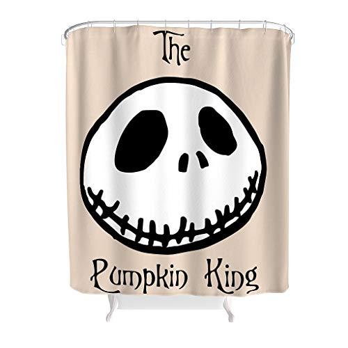 Zhenxinganghu The Pumpkin King Before Christmas Nightmare waschbar frisch äußerer Badvorhang mit Haken für Dusche Duschorganisator Polyester White 180x200cm