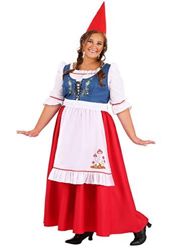 Plus Size Women's Garden Gnome Costume 1X Red