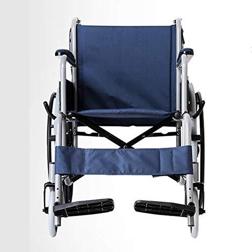Living Equipment Silla de rehabilitación médica Silla de ruedas Silla de ruedas plegable liviana Conducción Silla de ruedas médica Discapacitados Scooter manual Ancianos Silla de ruedas portátil Pl