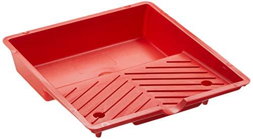 SCHULLER Farbwanne aus Kunststoff gerippt, Rot, Größe 200 x 210 mm, 1 Stück, 40475