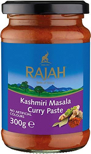 Rajah Kashmiri Masala Currypaste – Scharfe Gewürzpaste für authentische Curry-Gerichte – Ideal zum Würzen von Fleisch, Fisch oder Gemüse – 3 x 300 g