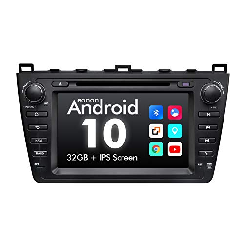 eonon GA9498A Android 10 fit Mazda 6 2009 2010 2011 2012 2G RAM 32G ROM Quad-Core 8' HD Touchscreen Indash Car Audio Video Stereo DVD GPS Sat Nav Compatible with Bose System Support Bluetooth