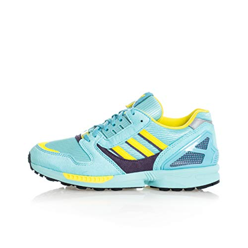 adidas Originals ZX 8000, Clear Aqua-Light Aqua-Shock Yellow, 3,5