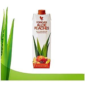 Forever living aloe vera puro para beber, con sabores arándanos y melocotón, zumo aloe vera 100% puro. (Aloe peaches)
