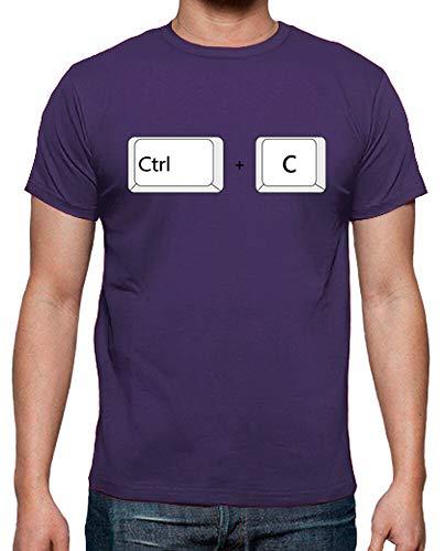 latostadora - Camiseta Copiar para Padres para Hombre Morado XL