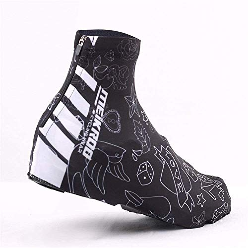 DYB Cycling shoe covers waterproof Cycling Shoe Cover Man Woman Reduction Wind Resistance Lock Shoes Cover Outdoor Riding Climbing Snow Rain Boots Protective Cover Gaiters (Color : Black, Size : L)