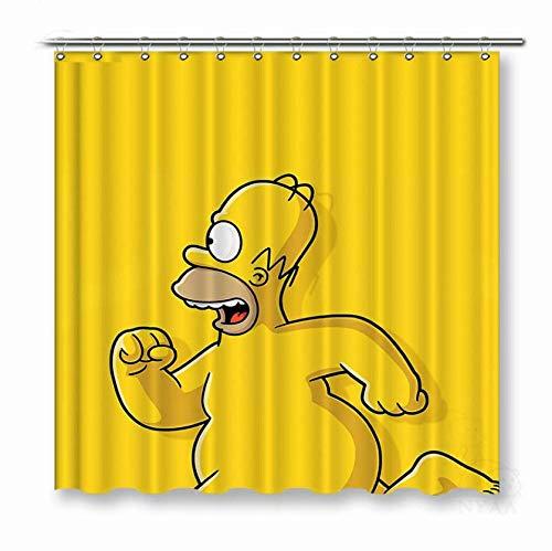 DOOPVM 3D Gedruckter Duschvorhang 180x180cm Die Gelbe Ente Duschvorhänge wasserdichte Badvorhänge aus Polyestergewebe für Wohnkultur