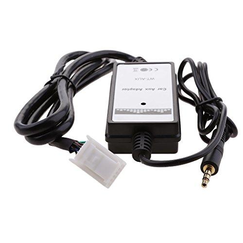 B Blesiya Cargador de CD para Coche, Reproductor de MP3, Interfaz de Radio, Adaptador AUX en 6 + 6 Pines para