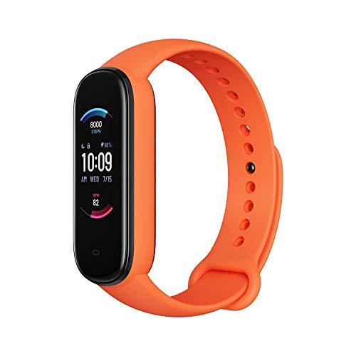 Amazfit Smartwatch Band 5 Fitness Tracker Armband mit integrierter Alexa, 15 Tagen Akkulaufzeit, Blutsauerstoff, Herzfrequenz, Schlafüberwachung, Digitale uhr für Sport