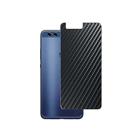 VacFun 2 Piezas Protector de pantalla Posterior, compatible con HUAWEI P10 Plus, Película de Trasera de Fibra de carbono negra Skin Piel