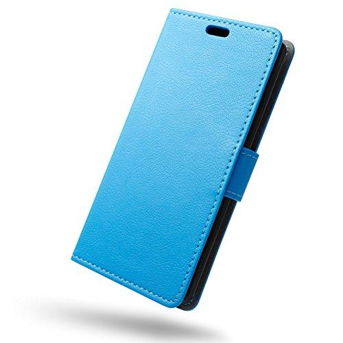 SLEO Hülle für Alcatel 3V Hülle,PU lederhülle [Vollständigen Schutz] [Kreditkartenfach] Flip Brieftasche Schutzhülle im Bookstyle für Alcatel 3V- Blau